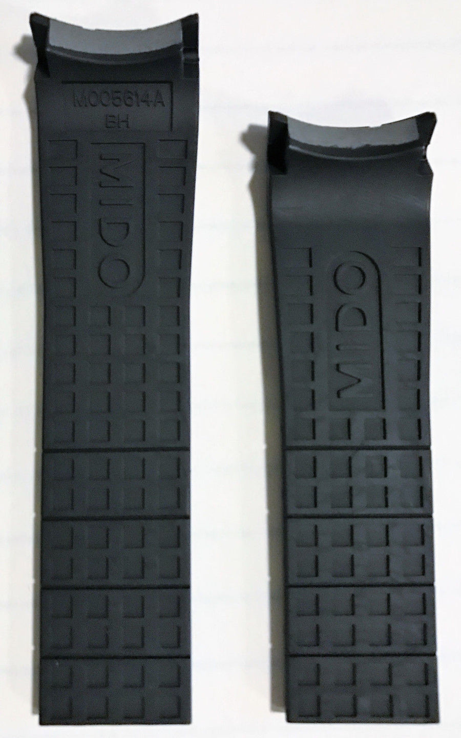 MIDO Multifort Black Rubber 23mm Band Strap for Back-Case M005614A - WATCHBAND EXPERT