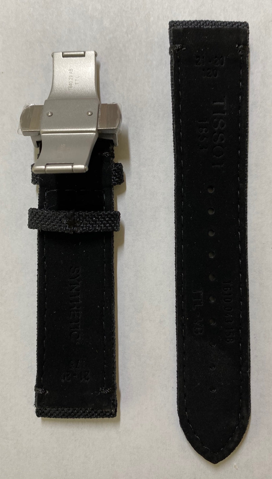 Tissot Seastar 21mm T120407A Black Synthetic Band Strap with Clasp