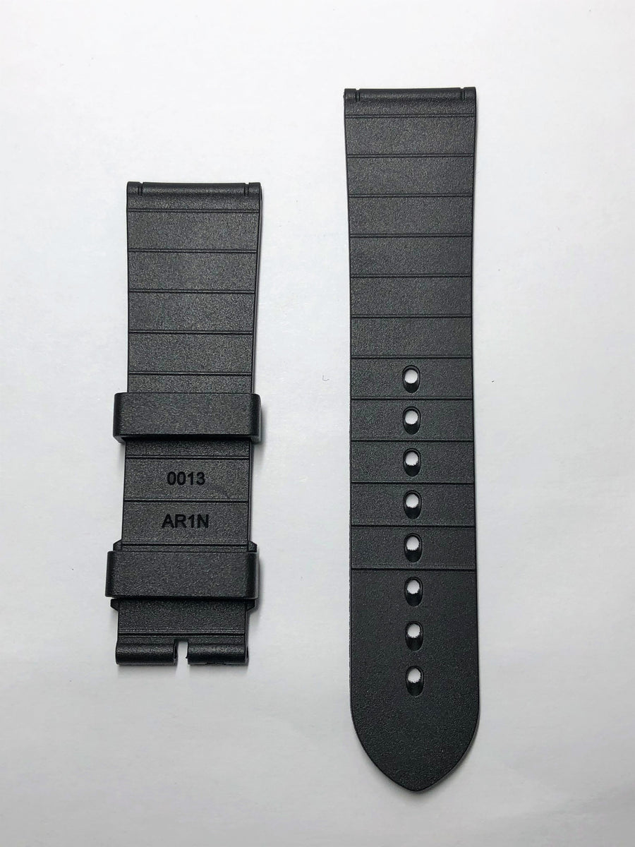 Movado Series 800 Black Rubber 22mm Watch Strap - WATCHBAND EXPERT