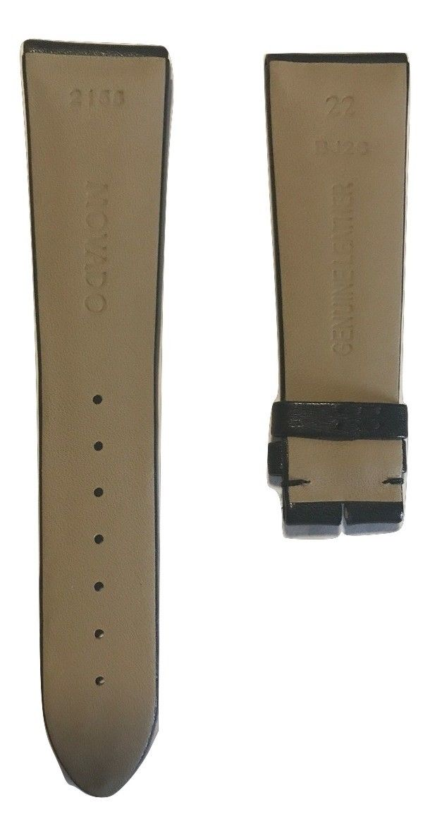 Movado Museum 0607078 Men's Black Leather Watch Band