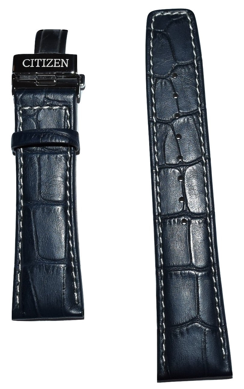 Citizen Calendrier BU2020-02A Blue Leather 23mm Watch Band
