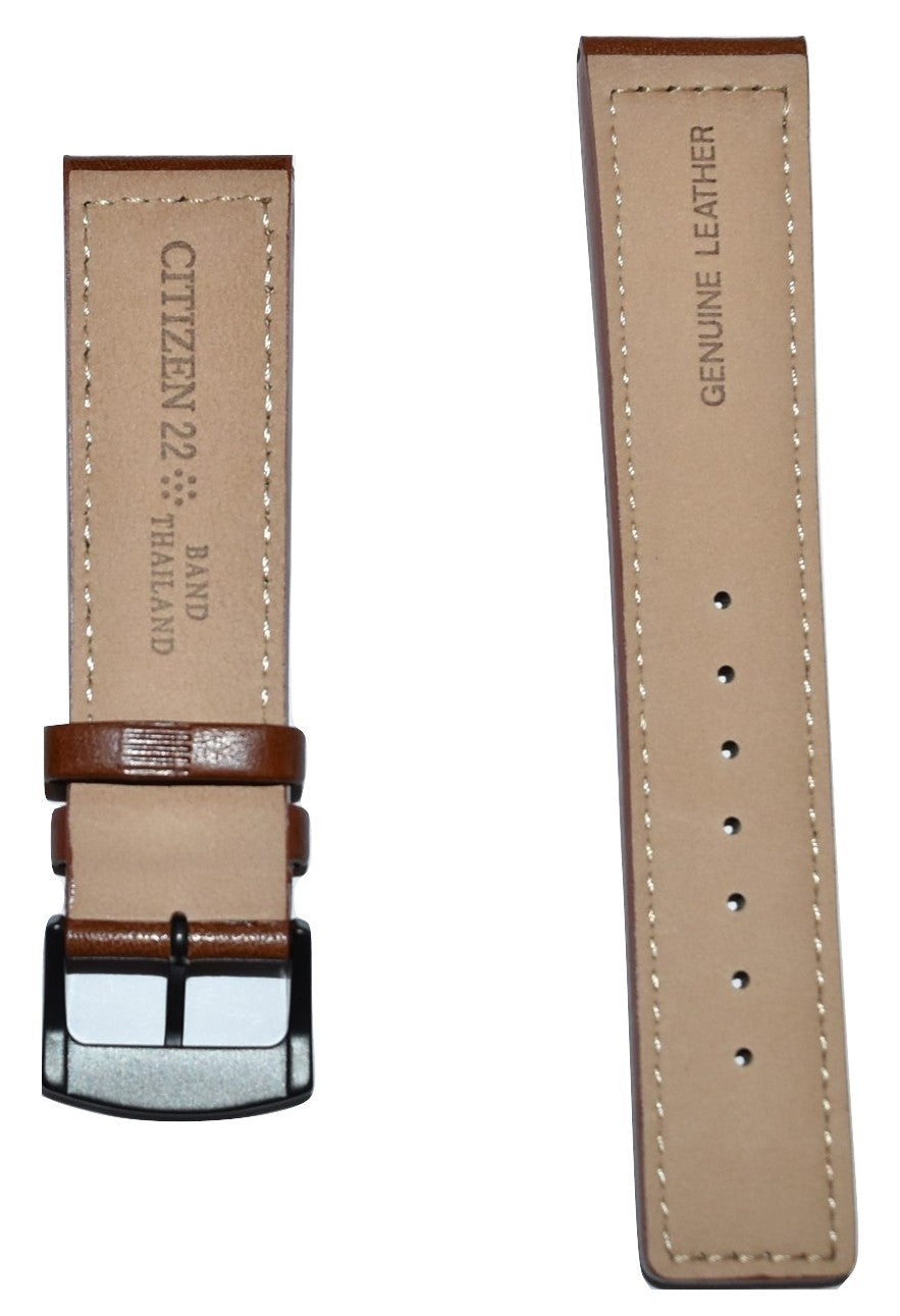 Citizen Men's Strap Model BM8475-26E Brown Leather Strap Watch Band - WATCHBAND EXPERT