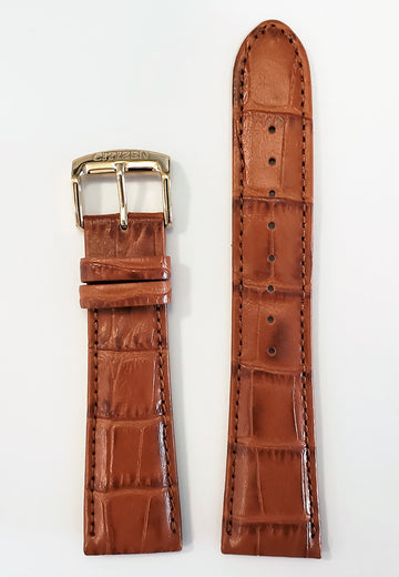 Citizen 22mm Brown Leather Band Strap For Watch Model AO9003-08E - WATCHBAND EXPERT