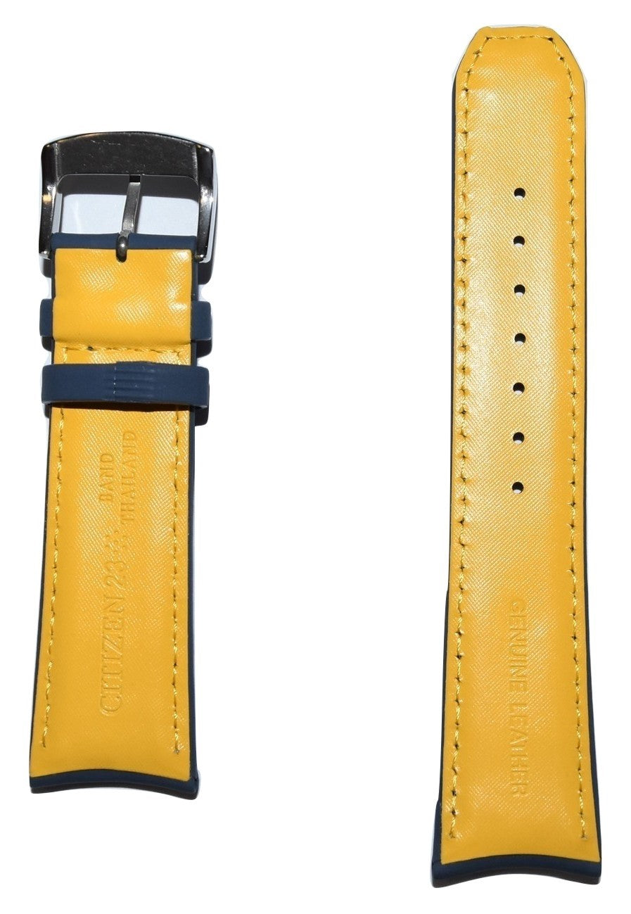 citizen blue angels leather strap