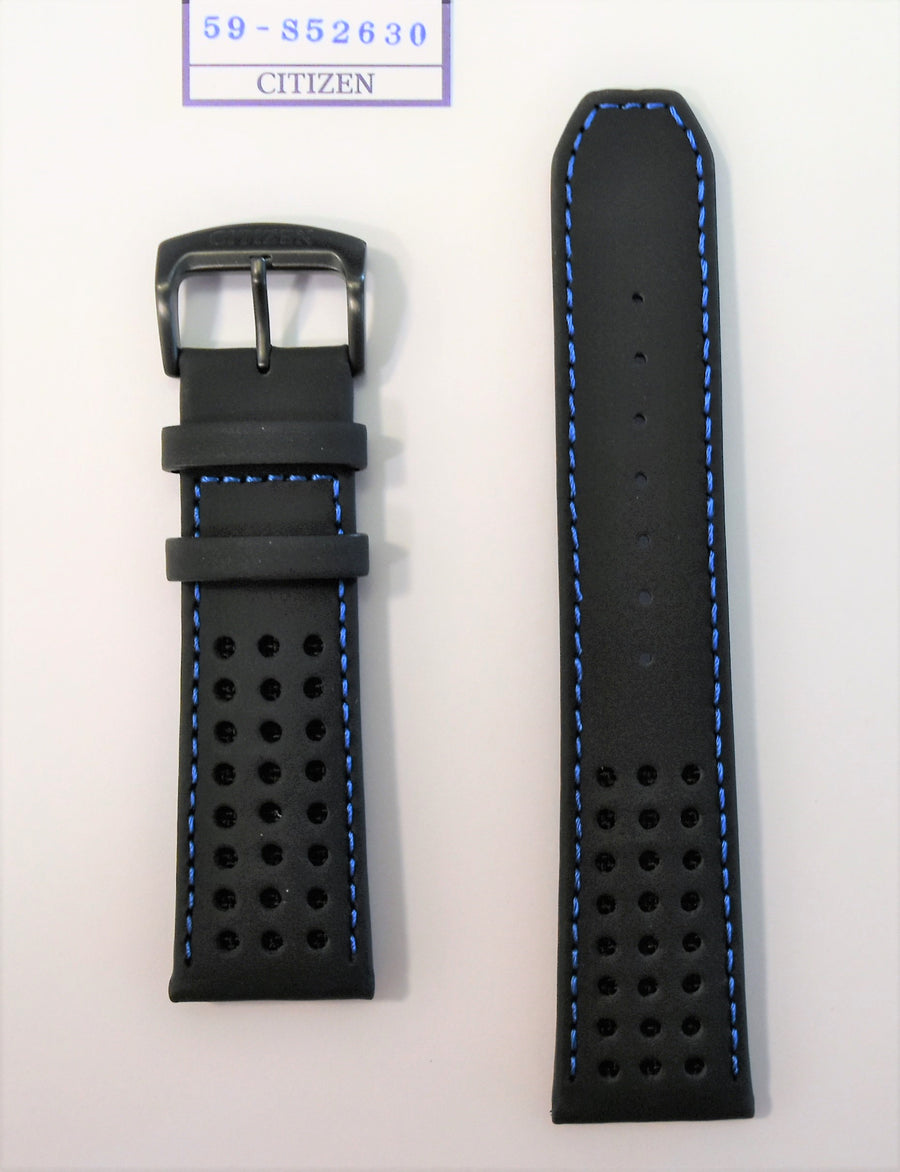 Citizen 23mm Black Leather Watch Band For CA0467-03E