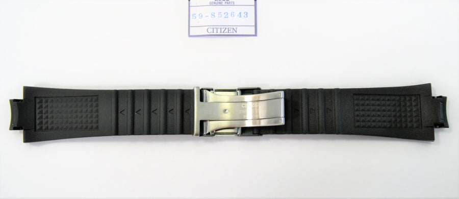 Citizen Endeavor CA0448-08E Black Rubber Strap Band with Clasp Buckle