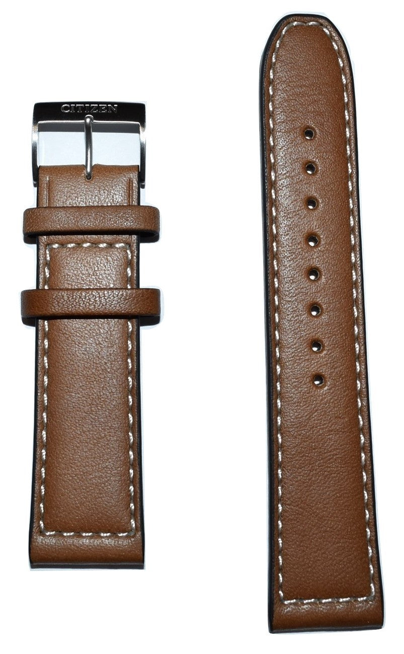 Citizen Avion AW1361-10H Brown Leather 22mm Watch Band - WATCHBAND EXPERT