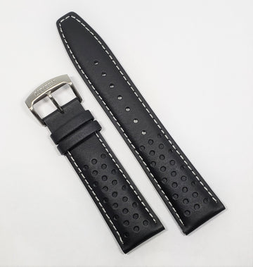 Citizen 22mm CA0649-14E Black Leather Watch Band Strap - WATCHBAND EXPERT