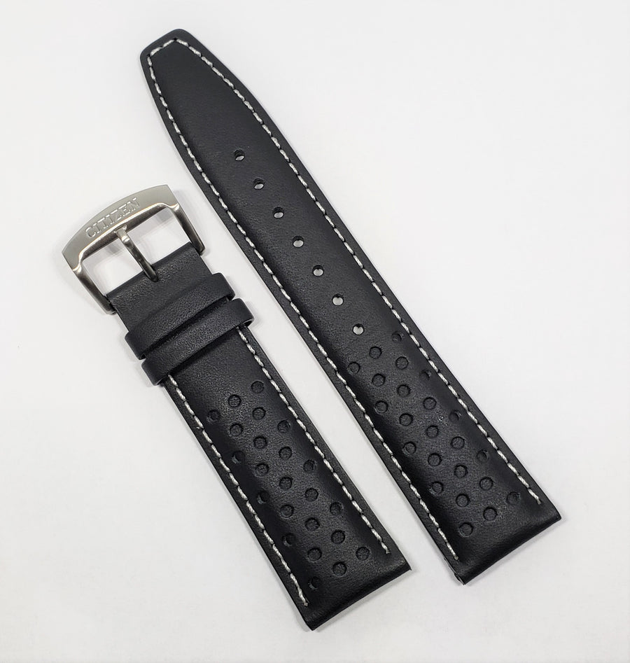 Citizen 22mm CA0649-14E Black Leather Watch Band Strap