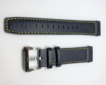 Citizen 22mm Blue Leather Band Strap - WATCHBAND EXPERT