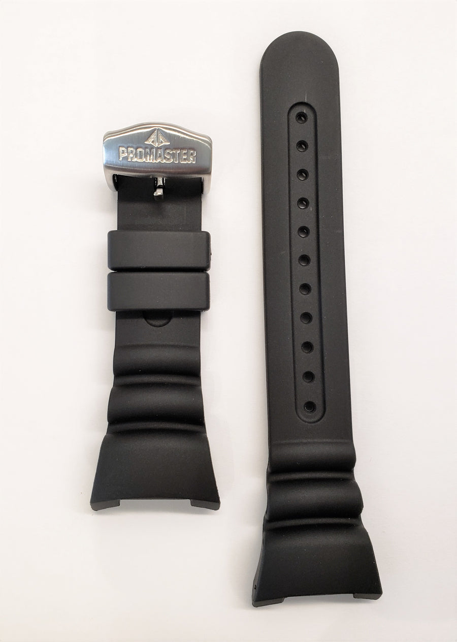 Citizen Aqualand U106-T007996 / JV0000-28E Black Rubber Watch Band - WATCHBAND EXPERT