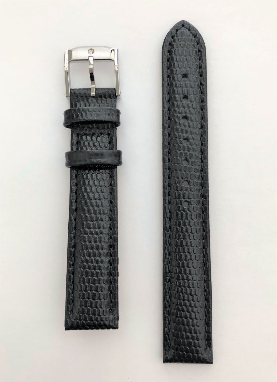 Movado Museum Women's 15mm Black Leather Watch Band