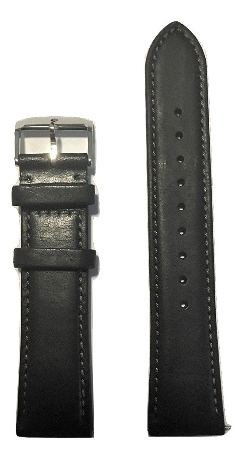 Movado Heritage Men's 21mm 3650005 Black Leather Watch Band - WATCHBAND EXPERT