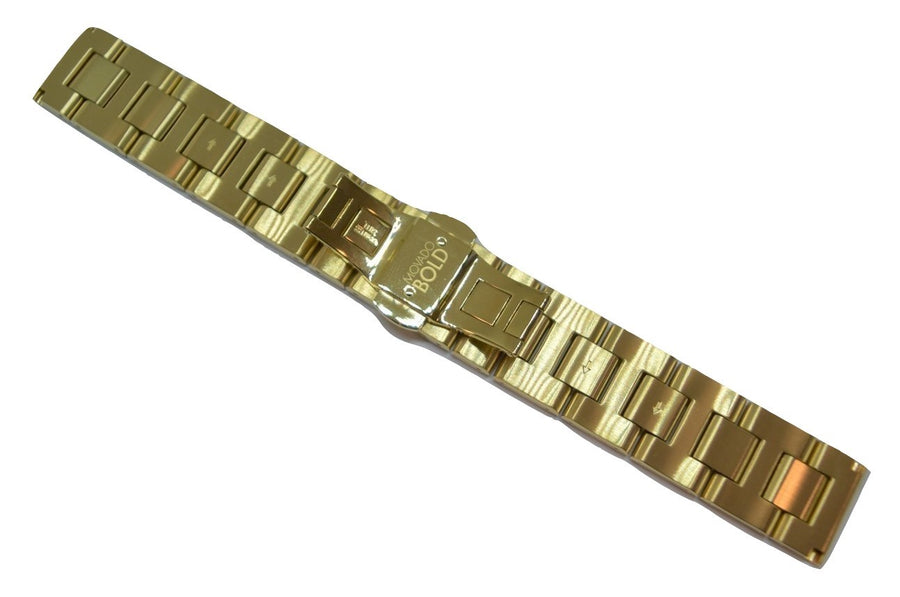 Movado BOLD 18mm Gold-Tone Stainless Steel Watch Band Bracelet #0005