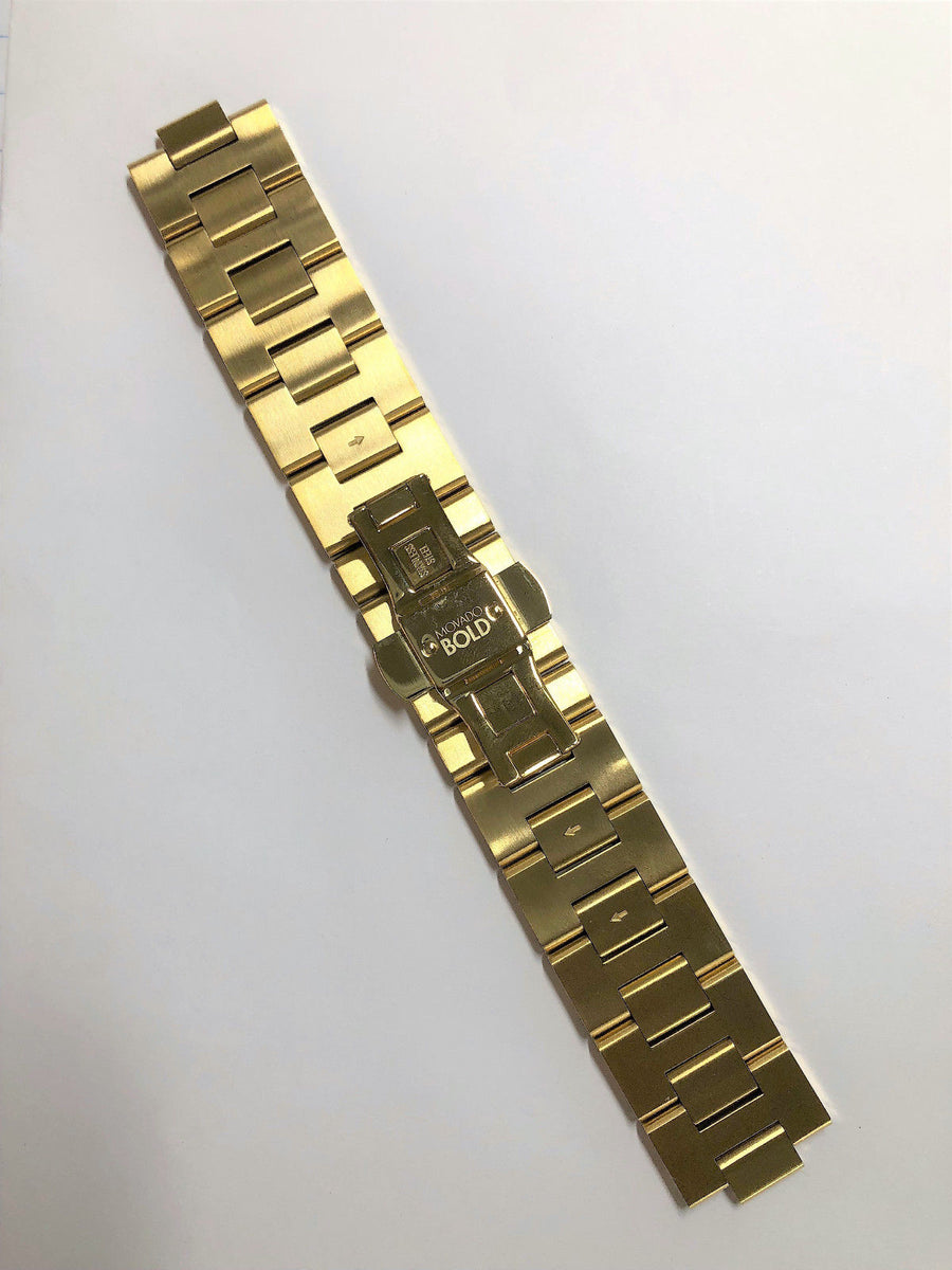 Movado BOLD 22mm MB.01.1.34.6156 Yellow Gold Steel Watch Bracelet