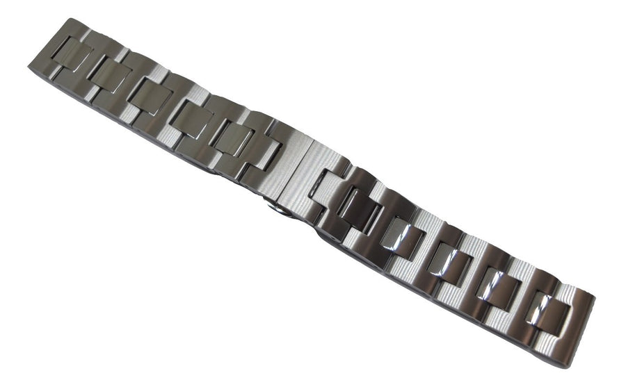 Movado BOLD 18mm Silver-Tone Stainless Steel Watch Band Bracelet #0138