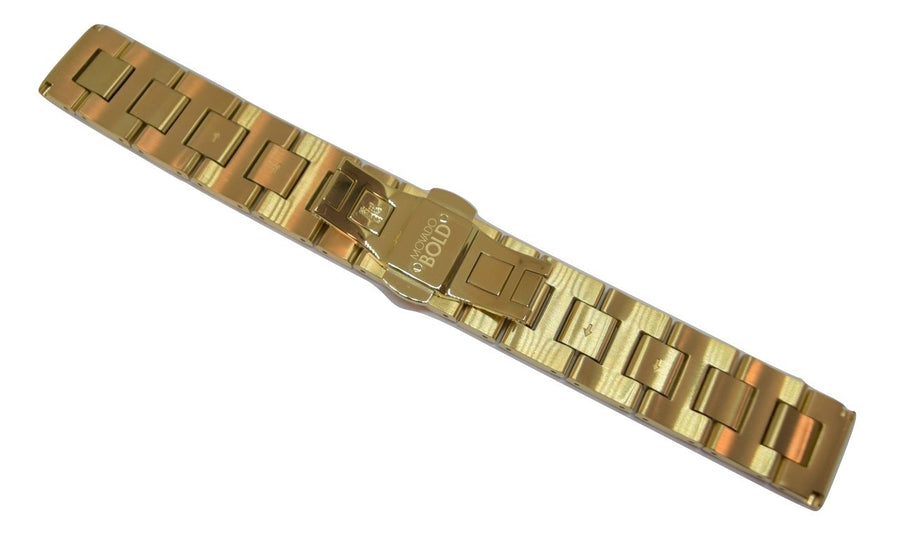 Movado BOLD 18mm Gold-Tone Stainless Steel Watch Band Bracelet #0139
