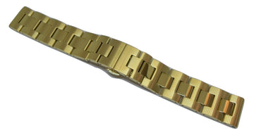 Movado BOLD 18mm Gold-Tone Stainless Steel Watch Band Bracelet #0139 - WATCHBAND EXPERT