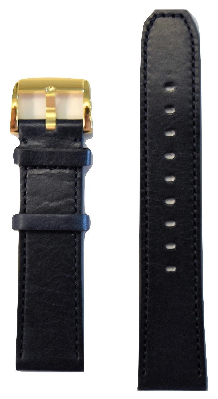Movado BOLD 22mm Navy Blue Leather Band Strap with Buckle