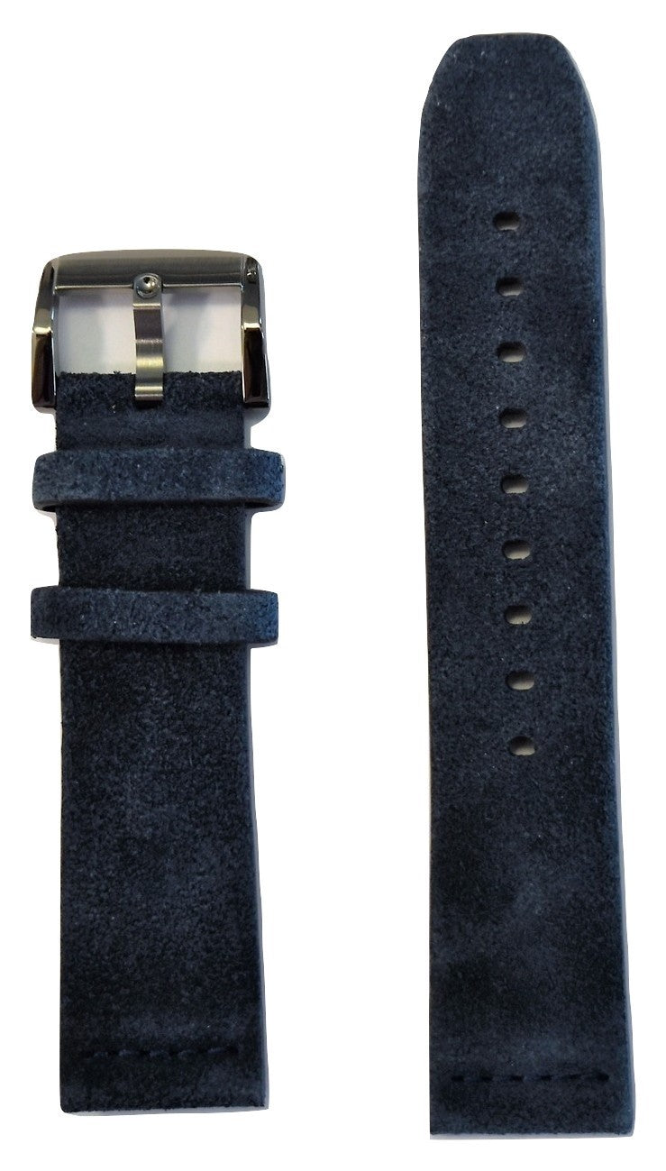 Movado BOLD 22mm Navy Blue Suede Leather Band Strap with Buckle