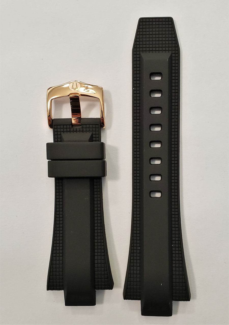 Bulova Marine Star 98A109 Black Rubber Watch Band