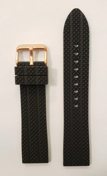 Bulova 98A192 Black Rubber 22mm Watch Band - WATCHBAND EXPERT
