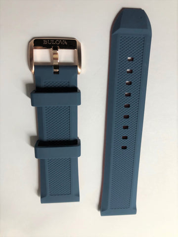 Bulova Marine Star 24mm 98A227 Blue Rubber Band Strap