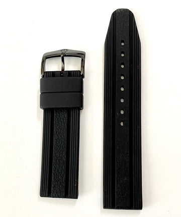 Bulova Marine Star 98B159 Black Silicone 22mm Watch Band