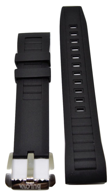 Bulova Precisionist 98B166 Black Rubber Watch Band