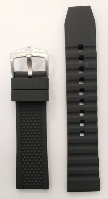 Bulova Marine Star 98B186 Black Rubber 22mm Watch Band