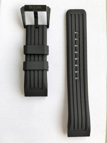 Bulova Precisionist 98B142 Black Rubber Watch Band