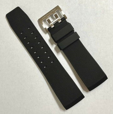 Hamilton BelowZero H785150 Black Rubber Watch Band Strap