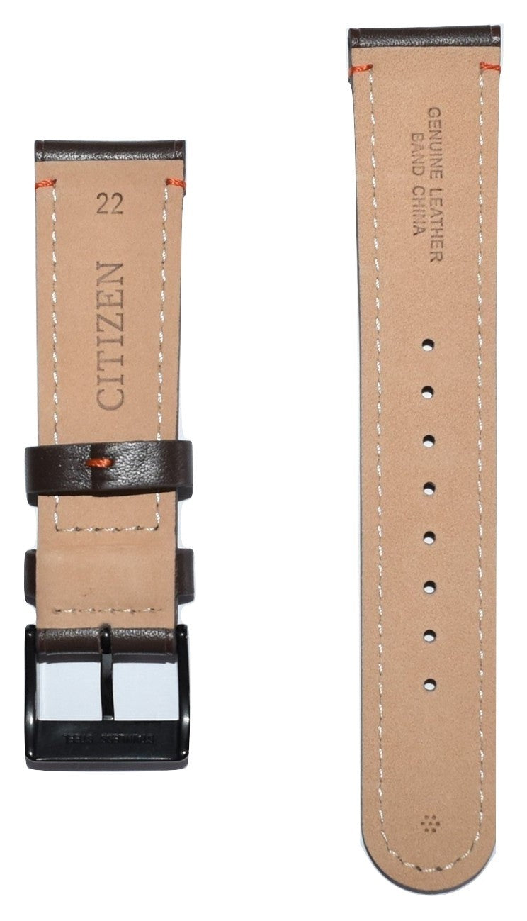Citizen Drive CTO Model BM6995-19E Brown Leather Strap Watch Band - WATCHBAND EXPERT
