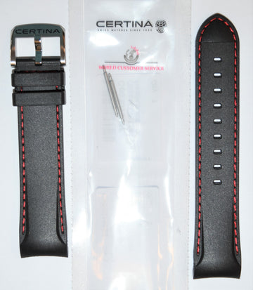 CERTINA DS-2 Model C024447A / C027417A Black Rubber Band Strap