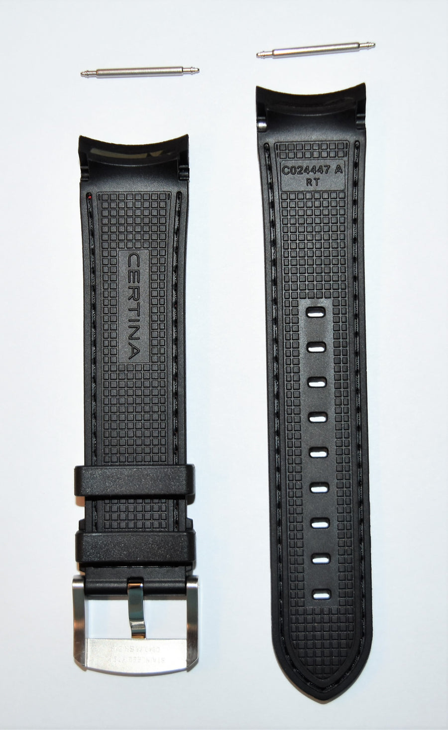 CERTINA DS-2 Model C024447A / C027417A Black Rubber Band Strap - WATCHBAND EXPERT