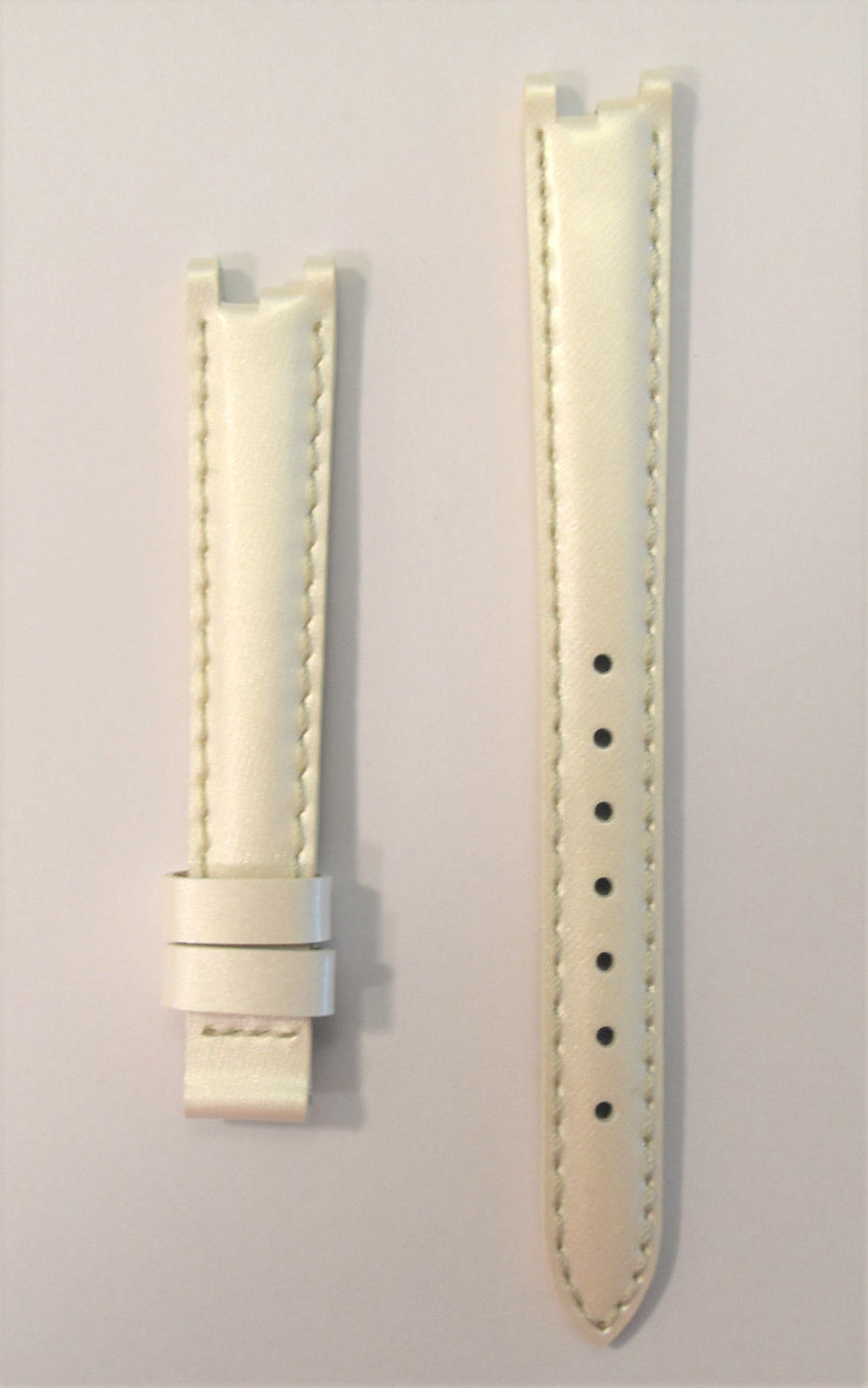 Tissot Women's Flamingo T094210A White Pearl Leather Strap Watch Band