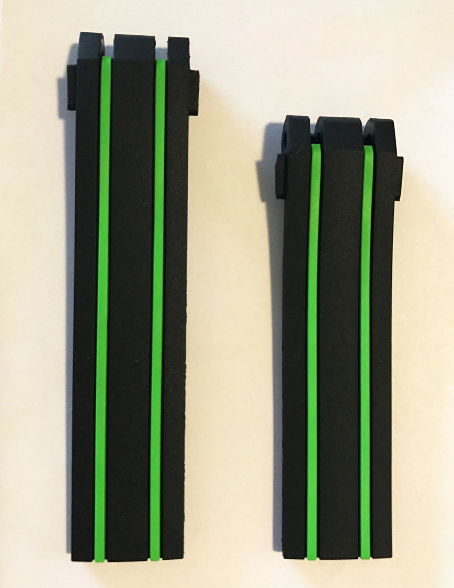 Tissot T-Race Nicky Hayden Black Green Rubber Band Strap For T092417A