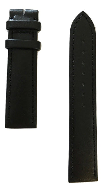 Movado 1881 Men's 20mm 0606874 Black Leather Watch Band - WATCHBAND EXPERT