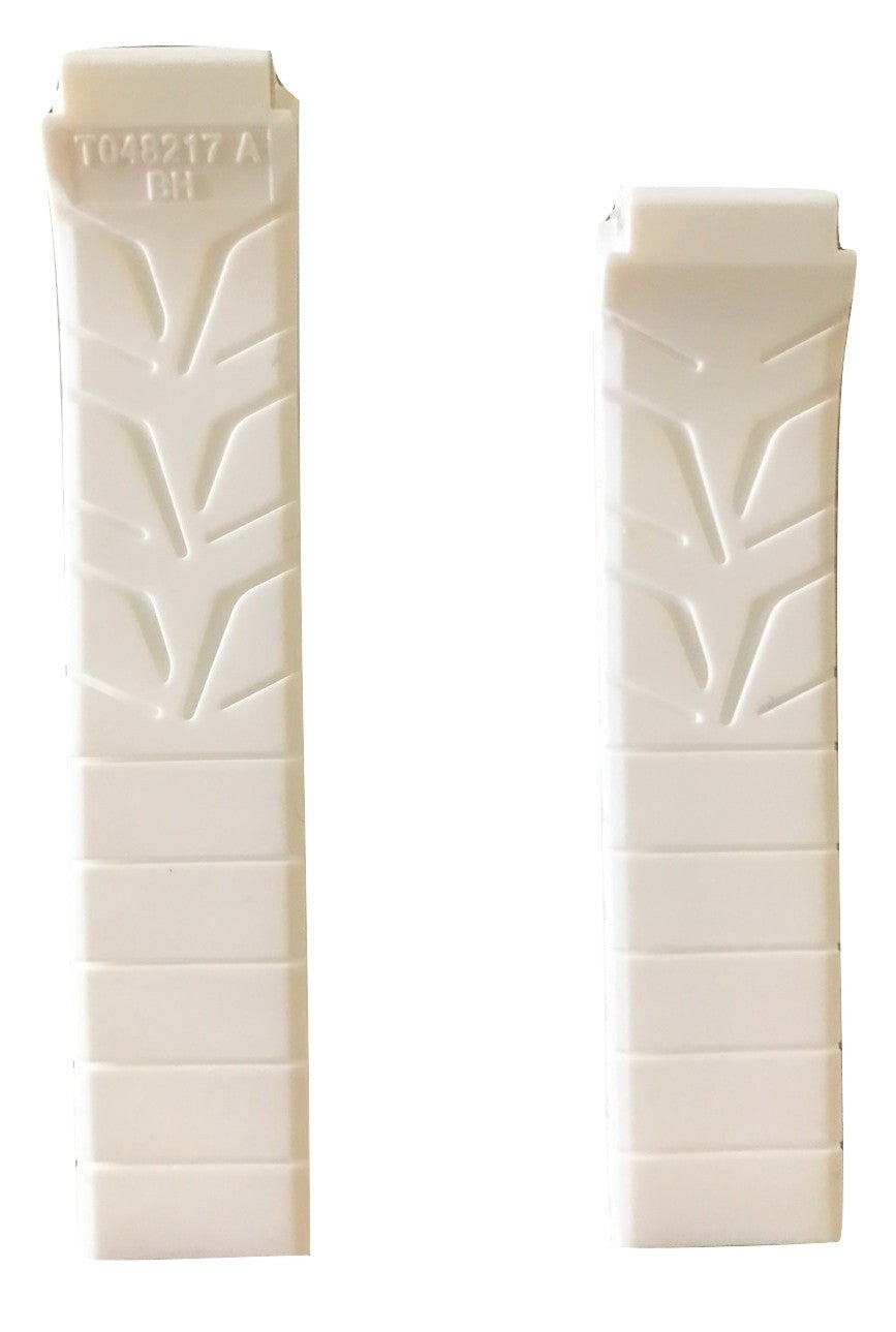 Tissot T-Race Women's 17mm White Rubber Watch Band Strap for T048217A - WATCHBAND EXPERT