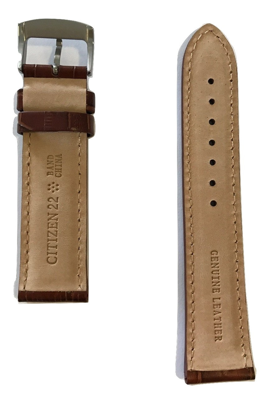 Citizen Perpetual Calendar BL5250-02L Brown Leather Strap Watch Band