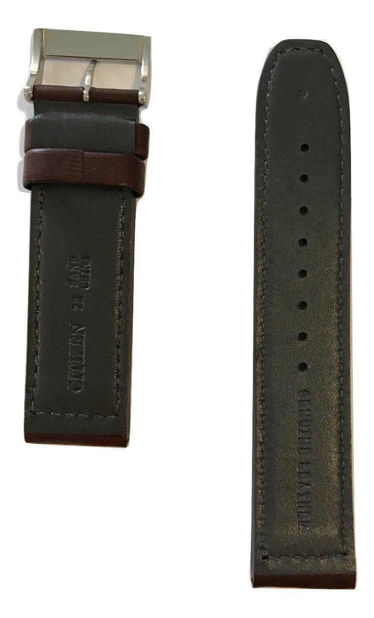 Citizen Avion CA4210-24E Brown Leather 22mm Watch Band - WATCHBAND EXPERT