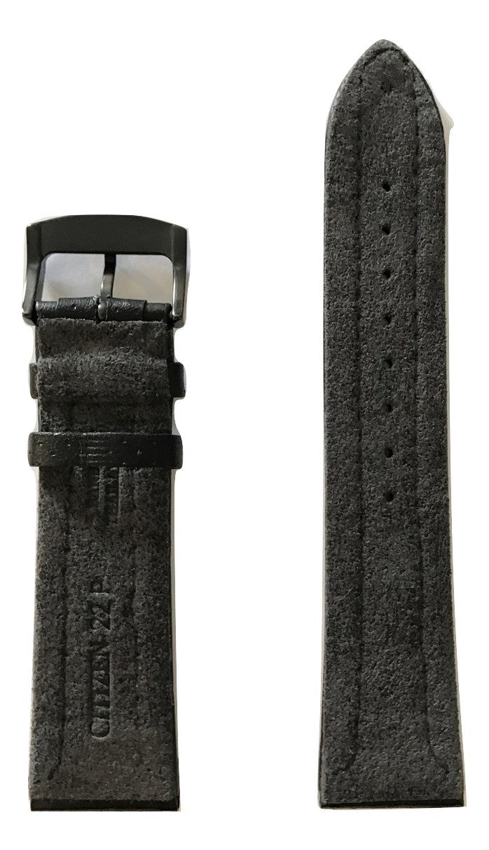 Citizen Men's BRT Model AT2205-01E Black Leather Strap Watch Band - WATCHBAND EXPERT