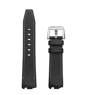 Hamilton Ventura ELVIS80 H245510 Black Leather Band Strap