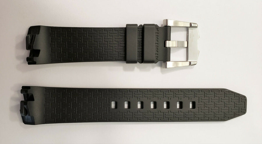 Hamilton Ventura H245550 Black Rubber Watch Band Strap