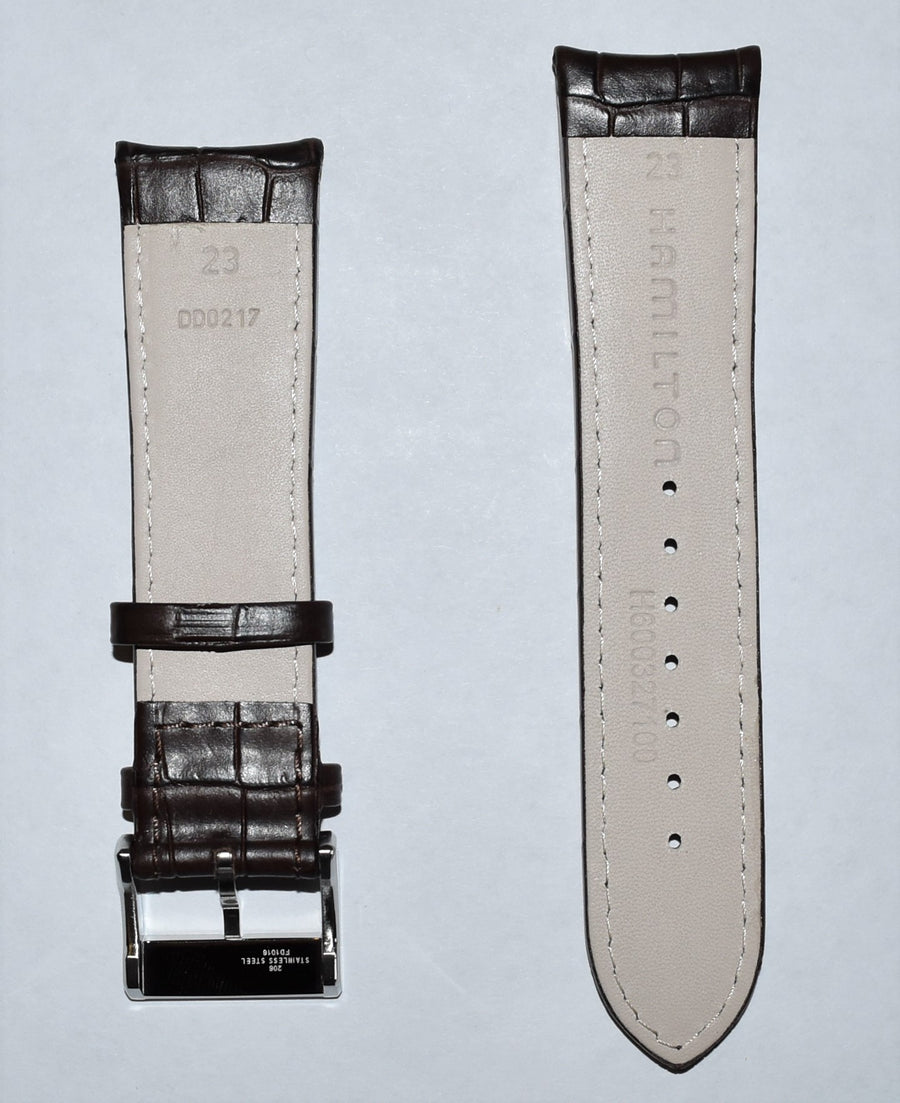 Hamilton Jazzmaster Maestro 23mm Brown Leather Band Strap H32766513