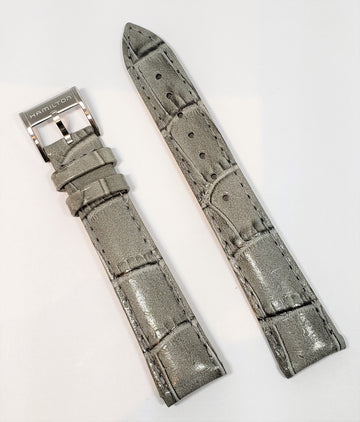 Hamilton Ladies Model H394150 Gray Leather 16mm Watch Band