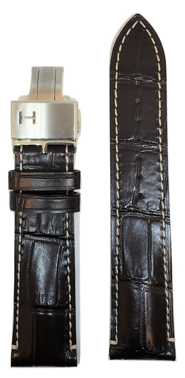 Hamilton RailRoad 22mm Brown Leather Watch Band