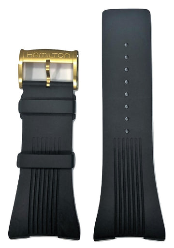 Hamilton Pulsomatic Black Rubber Watch Band