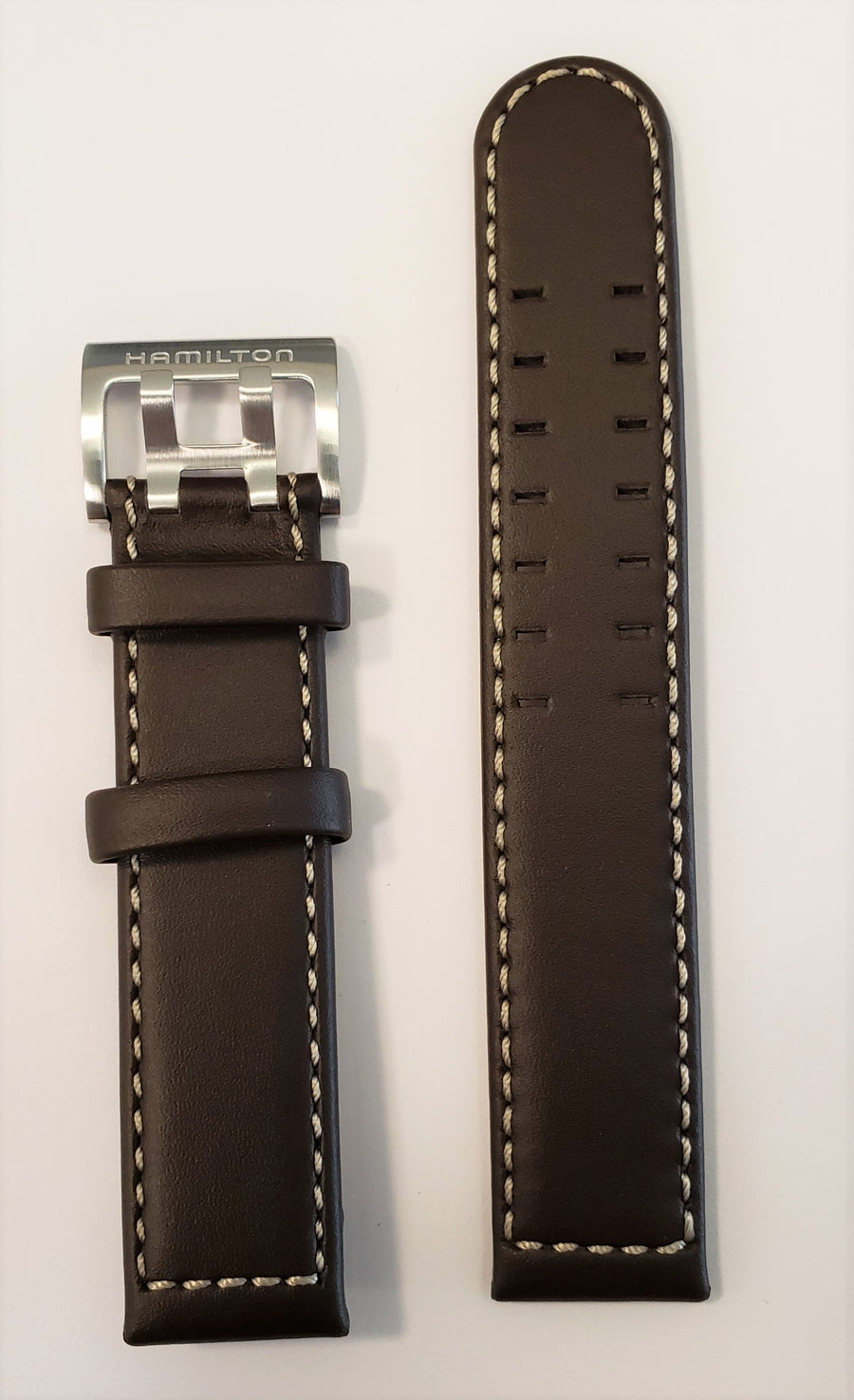 Hamilton Khaki Pilot 20mm Brown Leather Watch Band - WATCHBAND EXPERT