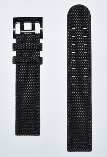 Hamilton Khaki Field 20mm Black Synthetic Watch Band Strap
